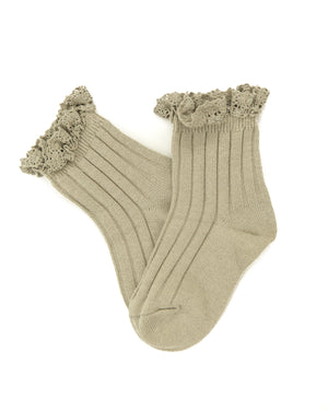 Harper Socks in Muted Olive - Reverie Threads