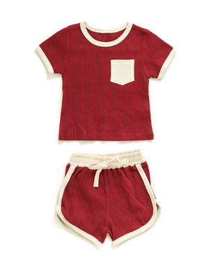 Jayden Outfit in Red - Reverie Threads