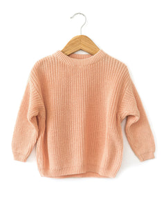 Tansy Knit Sweater in Pink - Reverie Threads