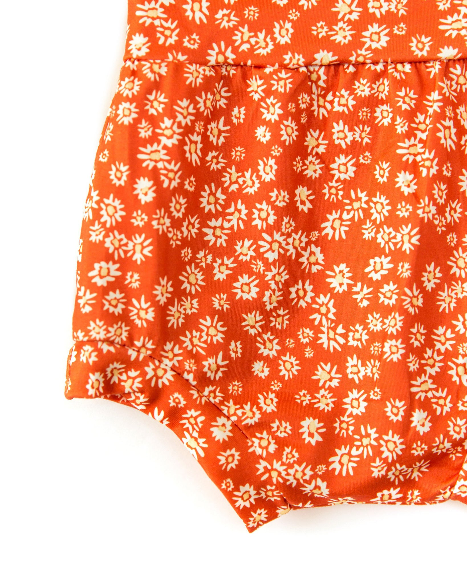 Brooklyn Bloomers In Vibrant Orange Floral - Reverie Threads