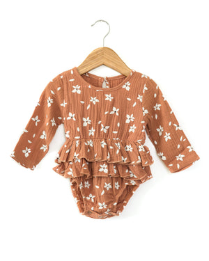Embry Romper in Earthy Pink - Reverie Threads