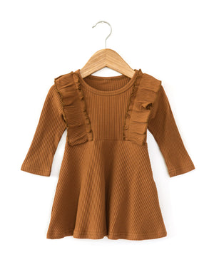 Fawn Dress in Rusty Brown - Reverie Threads