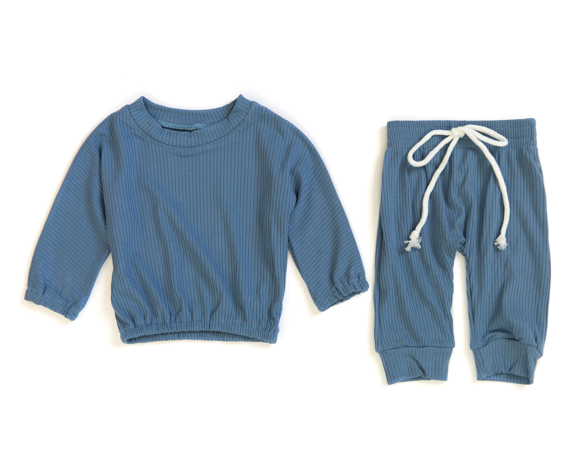 Tinley Sweater Set in Blue - Reverie Threads