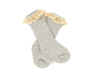 Vienna Lace Socks in Gray - Reverie Threads