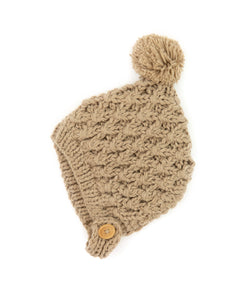Noelle Knit Beanie in Dusty Brown - Reverie Threads