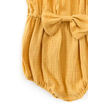 Brittany Romper in Mustard Yellow - Reverie Threads
