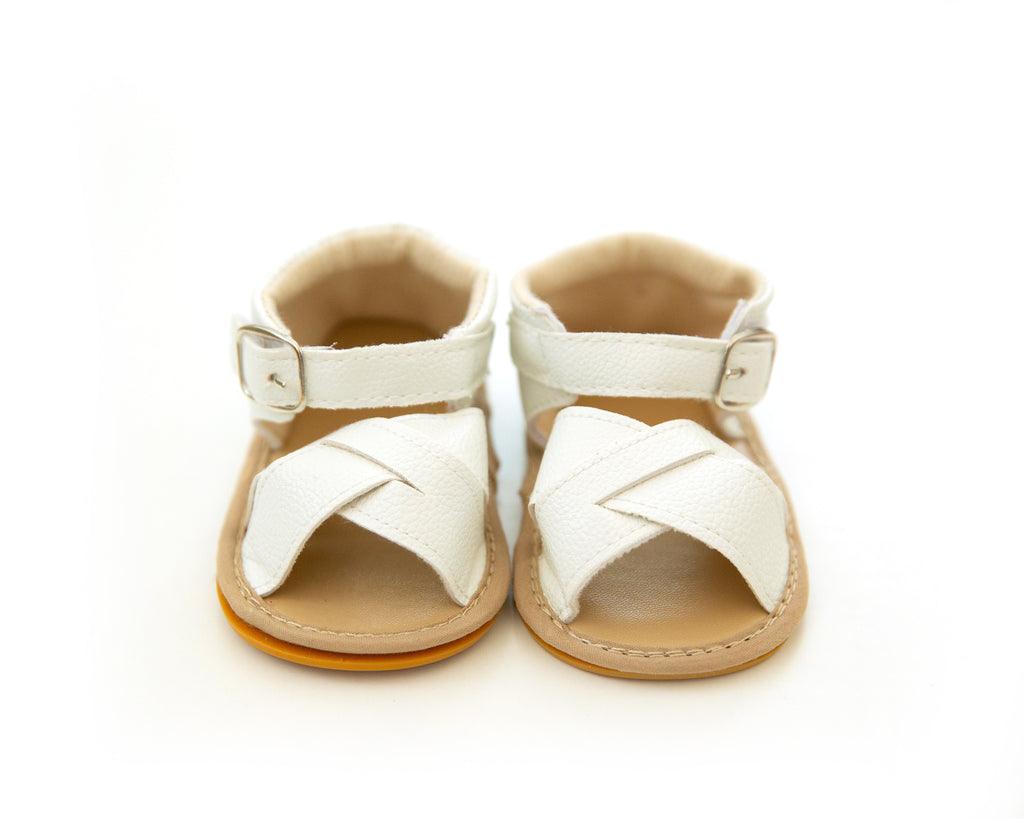 Cleo Sandals in White - Reverie Threads