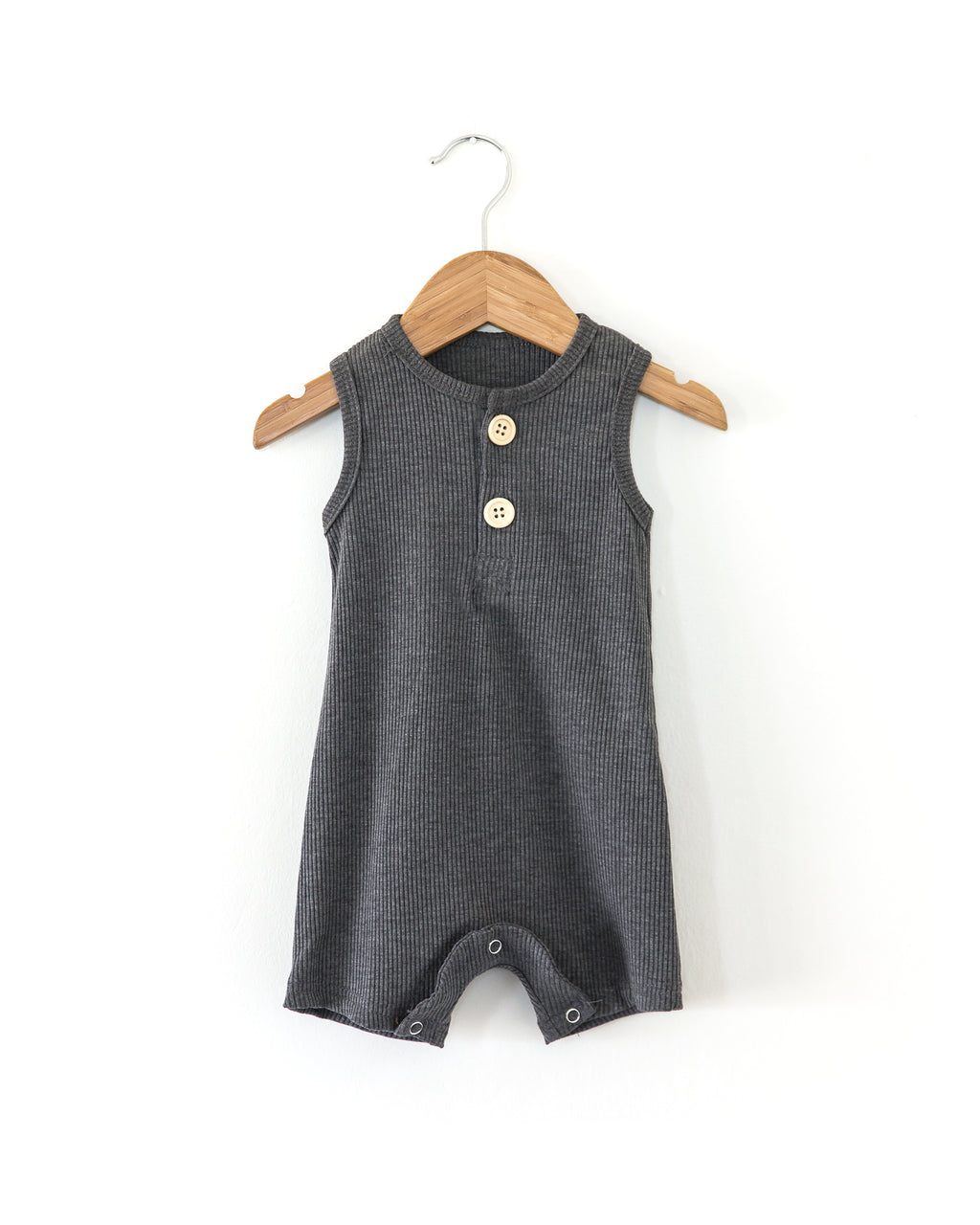 Miles Romper in Charcoal - Reverie Threads