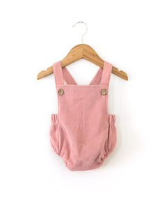 Vintage Corduroy Romper in Pink - Reverie Threads
