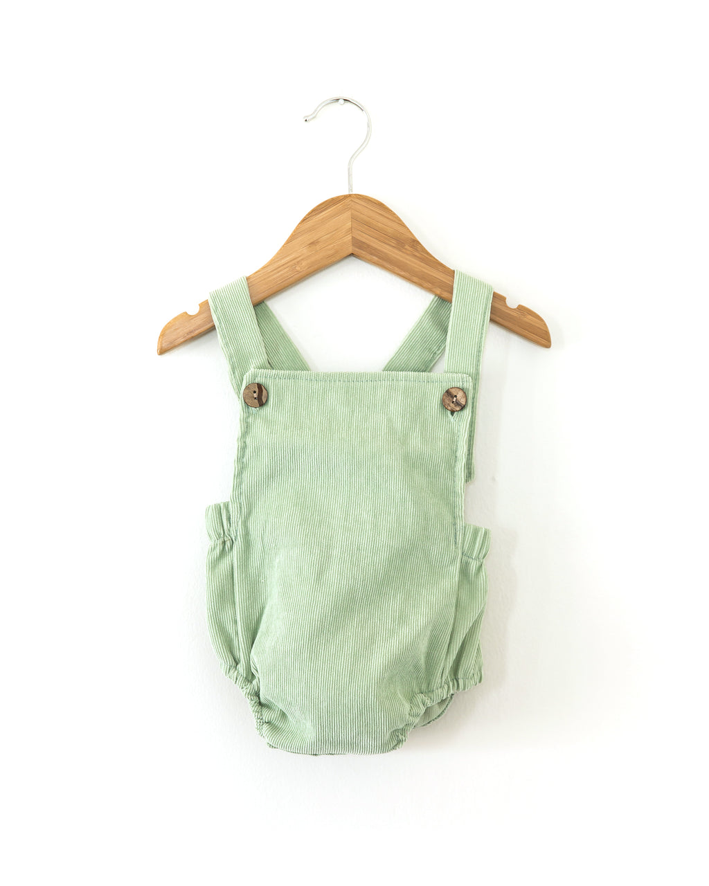 Vintage Corduroy Romper in Mint - Reverie Threads