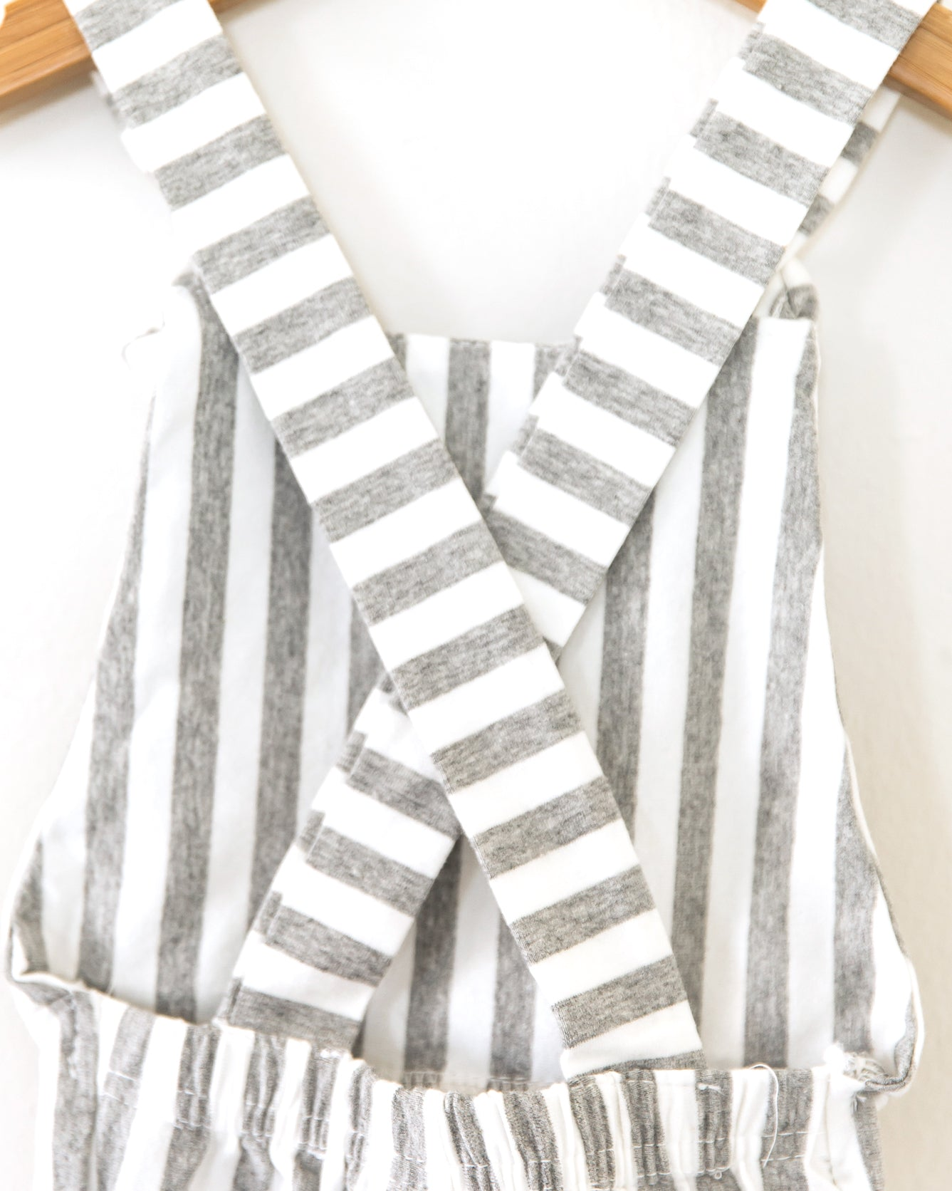Hippie Vibes Jumpsuit in Gray Stripes - Reverie Threads