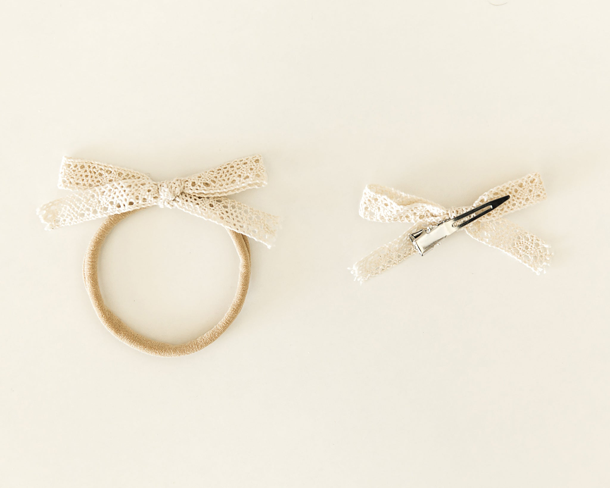 Classic Lacey Bow // Headband or Clip - Reverie Threads
