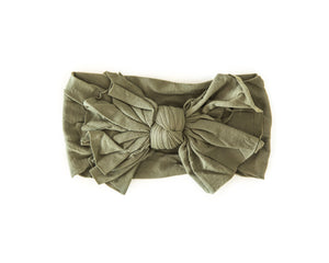 Hot Mess Nylon Headband in Olive - Reverie Threads