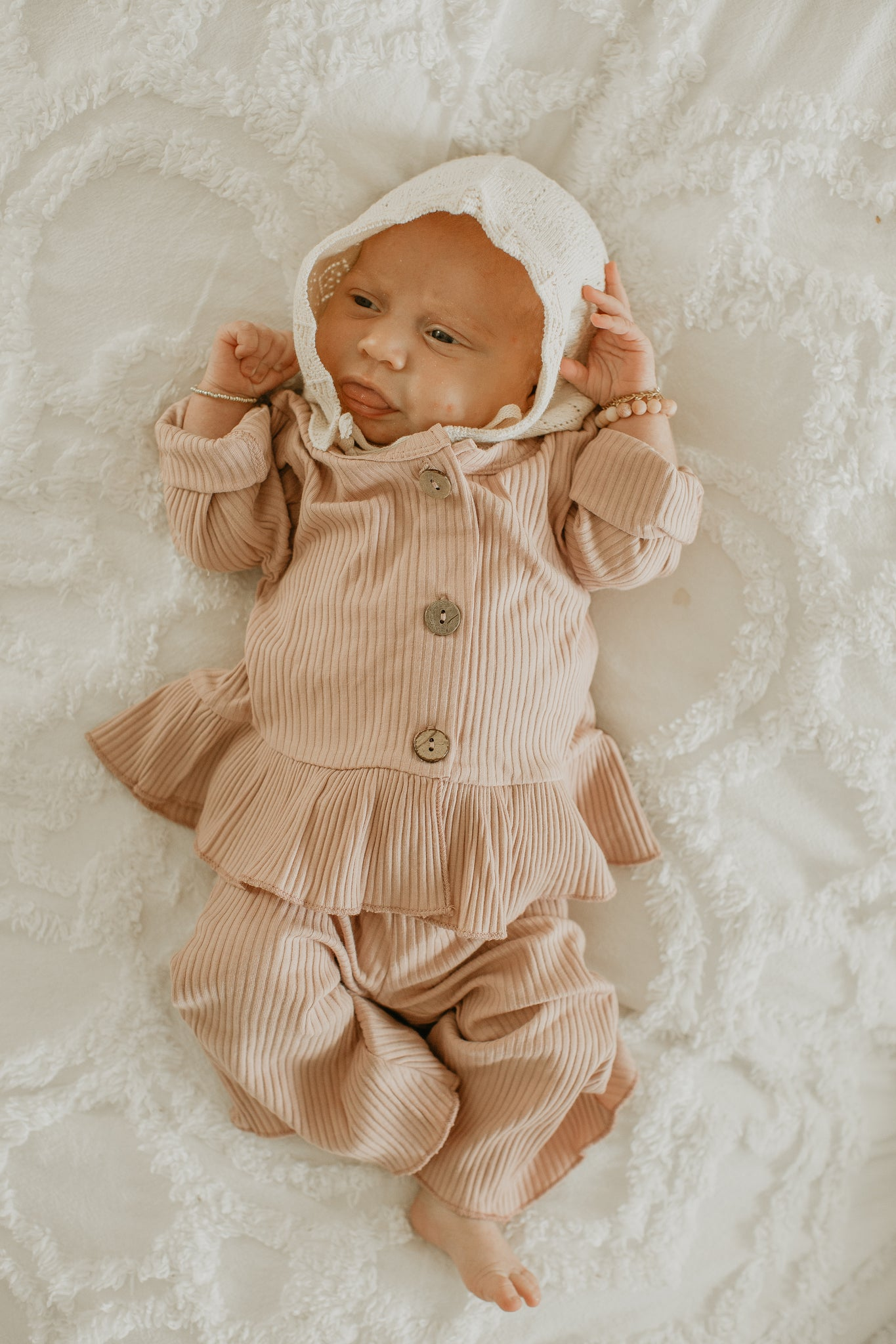 Kendra Winter Outfit in Dusty Pink - Reverie Threads