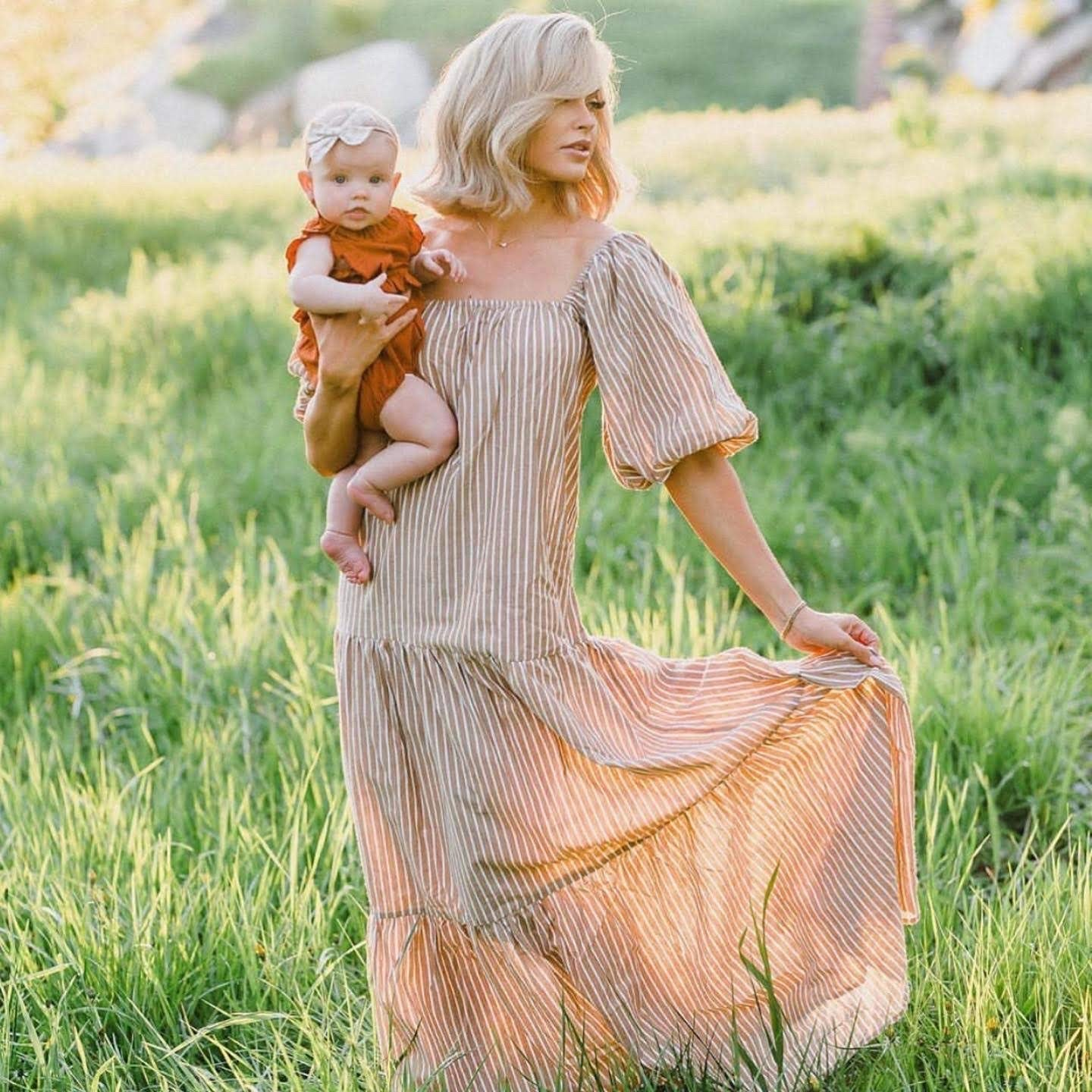 Claire Romper in Burnt Orange - Reverie Threads