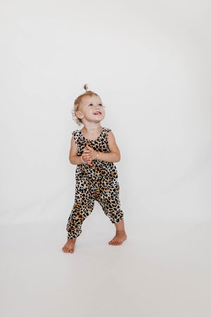 Velvet Cheetah Romper - Reverie Threads