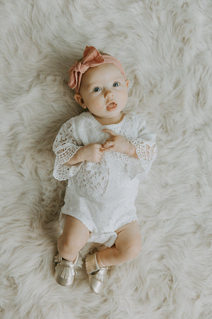 Lace Bell Sleeved Romper