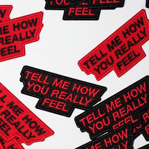 Courtney Barnett album Tell Me How You Really Feel woven Patch from Bingo Merch