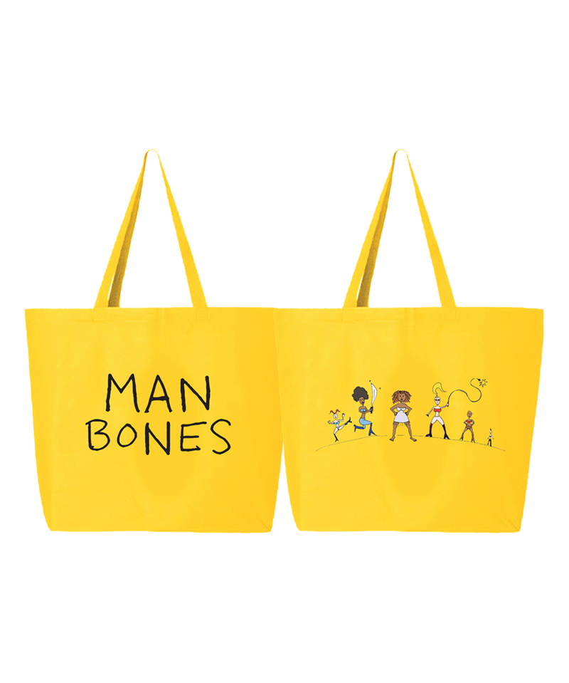 Tenacious D Man Bones Totebag Totebag- Bingo Merch Official Merchandise Shop Official