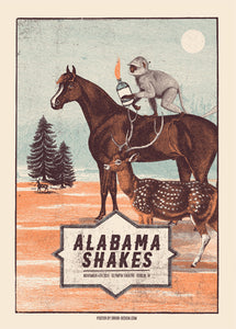 Alabama Shakes Dublin 4.12.2015 Poster- Bingo Merch Official Merchandise Shop Official