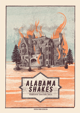 Alabama Shakes Dublin 3.11.2015 Poster- Bingo Merch Official Merchandise Shop Official