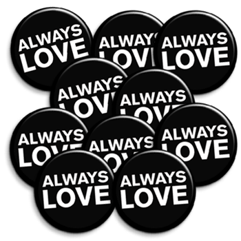 Nada Surf Always Love Pin Pin Badge- Bingo Merch Official Merchandise Shop Official
