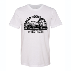 Broken Social Scene 24 Hour Towing Service T-shirt- Bingo Merch Official Merchandise Shop Official