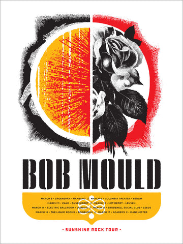 Bob Mould Europe Spring 2019 Poster- Bingo Merch Official Merchandise Shop Official