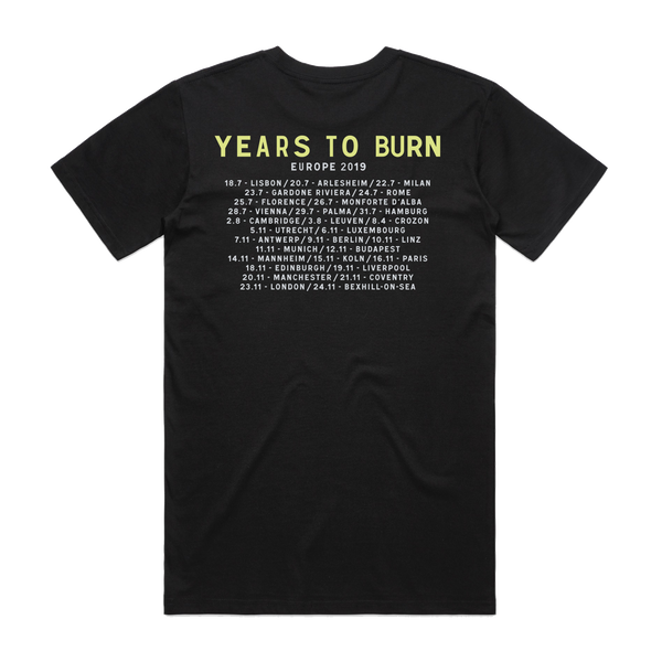 Calexico and Iron & Wine Years To Burn Tour T-Shirt- Bingo Merch Official Merchandise Shop Official