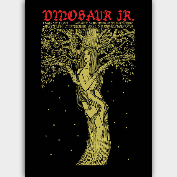 Dinosaur Jr. Germany 2013 Poster- Bingo Merch Official Merchandise Shop Official