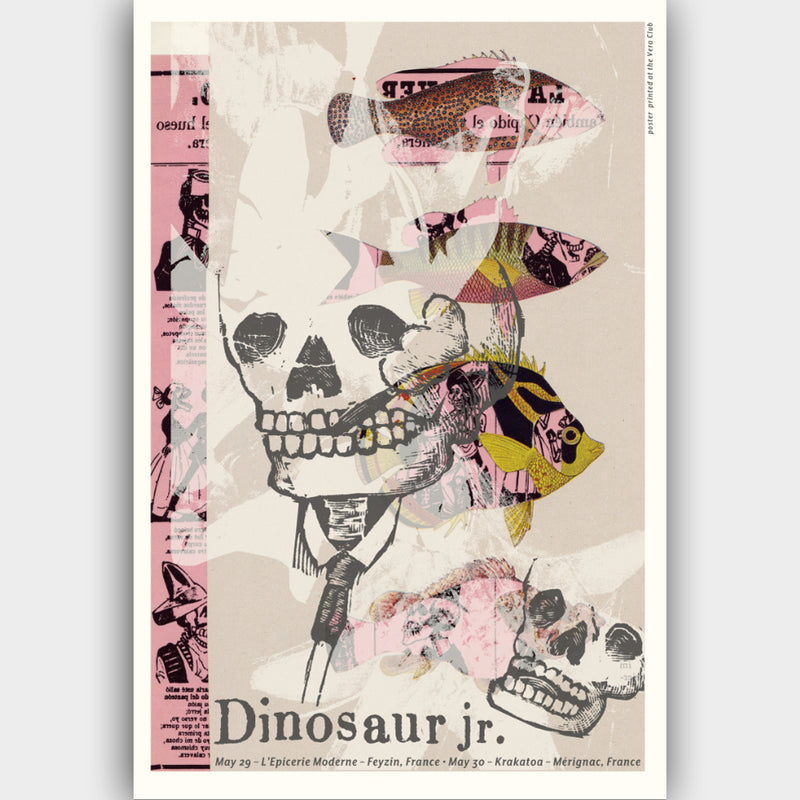 Dinosaur Jr. France 2013 Poster- Bingo Merch Official Merchandise Shop Official