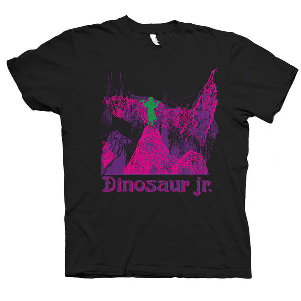 Dinosaur Jr Give A Glimpse Of What Yer Not design on a black T-shirt from Bingo Merch