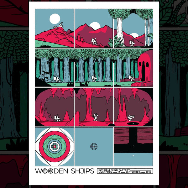 Wooden Shjips Liverpool September 2018 Gig Poster Poster- Bingo Merch Official Merchandise Shop Official