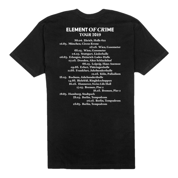 Element Of Crime Tour 2019 T-Shirt- Bingo Merch Official Merchandise Shop Official