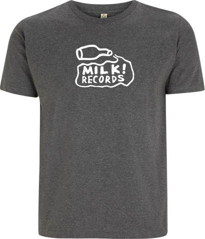Courtney Barnett Milk Records design on a grey Tshirt from Bingo Merch