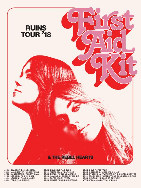 First Aid Kit Tour Poster Europe 2018 Poster- Bingo Merch Official Merchandise Shop Official
