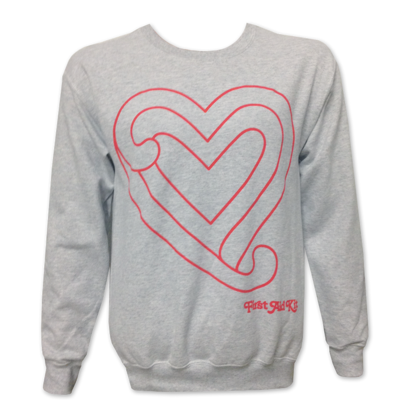 First Aid Kit Heart Crewneck Sweatshirt- Bingo Merch Official Merchandise Shop Official