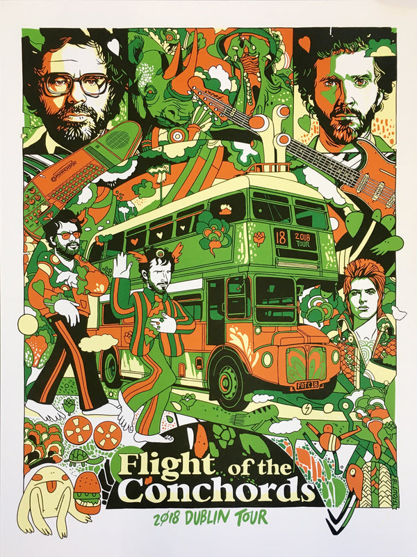 Flight of the Conchords Bus Poster Dublin Poster- Bingo Merch Official Merchandise Shop Official