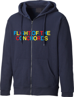 Flight of the Conchords Multicolor Zip Hoodie Hoodie- Bingo Merch Official Merchandise Shop Official