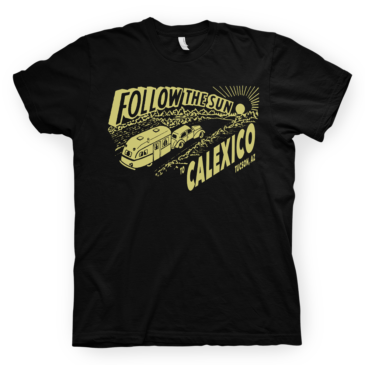 Calexico Follow The Sun T-Shirt- Bingo Merch Official Merchandise Shop Official