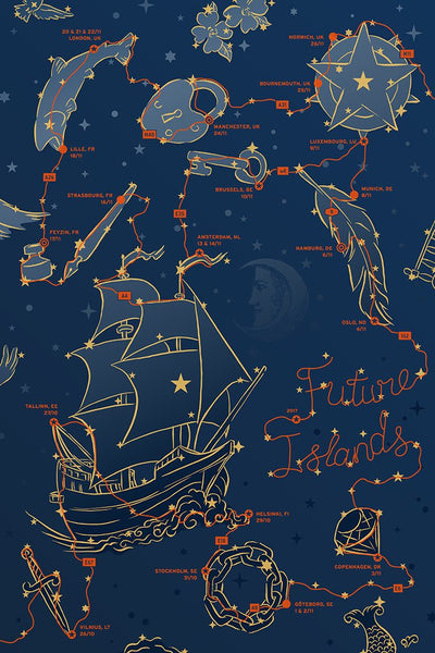 Future Islands European Tour Poster 2017 Poster- Bingo Merch Official Merchandise Shop Official