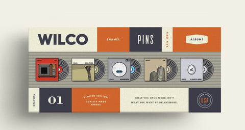 Wilco Album Pin Badge Set Pin Badge- Bingo Merch Official Merchandise Shop Official