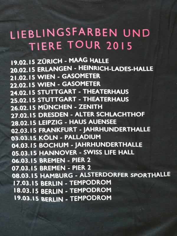 Element Of Crime Lieblingsfarben Tour für Frauen T-Shirt- Bingo Merch Official Merchandise Shop Official