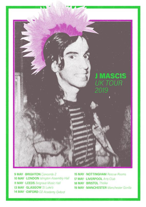 J Mascis UK Tour 2019 Poster- Bingo Merch Official Merchandise Shop Official