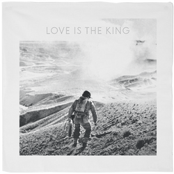 Love Is The King Bandana White