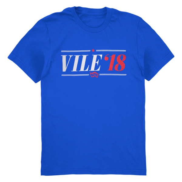 Kurt Vile Vile '18 T-shirt T-Shirt- Bingo Merch Official Merchandise Shop Official