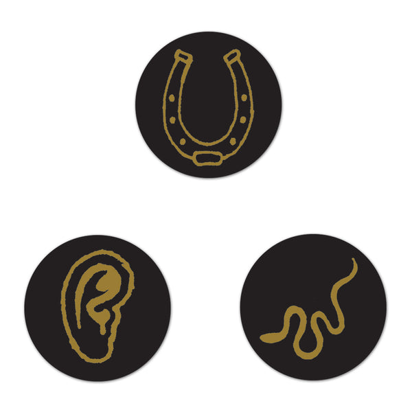 Snake, Ear, Horseshoe Button Set