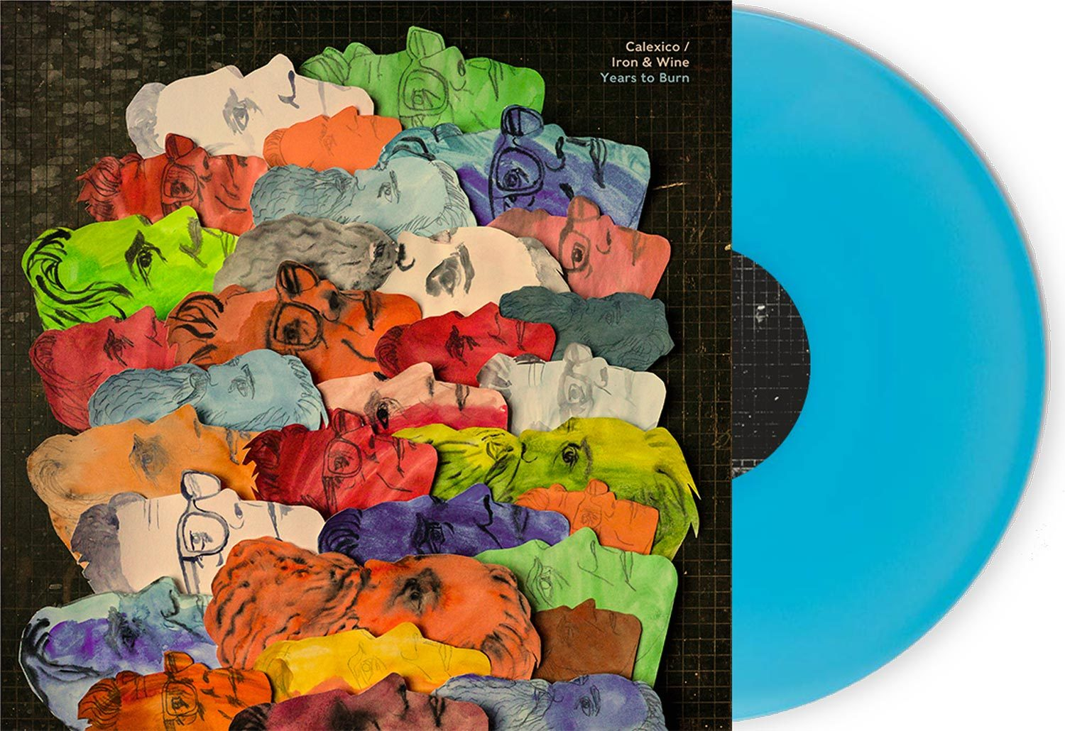 Calexico and Iron & Wine (PRE-ORDER) Years to Burn Limited Turquoise LP ltd.LP- Bingo Merch Official Merchandise Shop Official