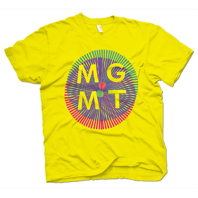 MGMT Op Art T-Shirt- Bingo Merch Official Merchandise Shop Official