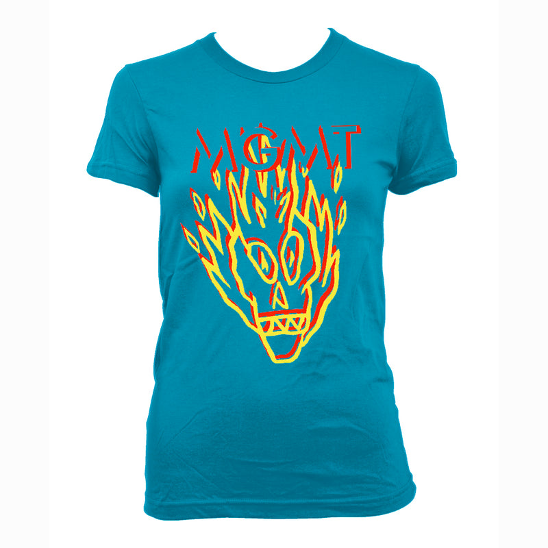 MGMT Skull - girls T-Shirt- Bingo Merch Official Merchandise Shop Official